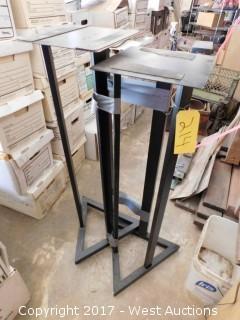 (2) Steel Stands
