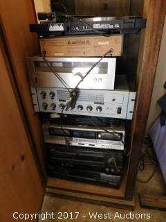 Cabinet of Audio Equipment