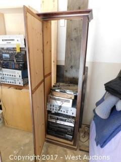 Cabinet of Audio Equipment