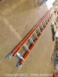 Werner 24' Fiberglass Folding Ladder