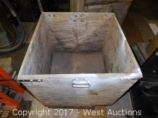 "Wooden Rolling Container 26""x26"""