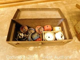(20) Wood Boring Bits and Box