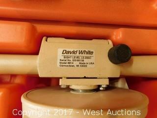 David White 8814 Sight Level with Case