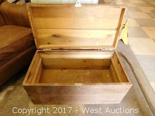 "Wooden Box 33""x17"""