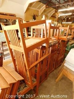 (14) Wooden Chairs