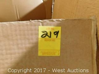 "Box of (2) Oriental Porcelain Bowls Green Tone 19"" Diameter"