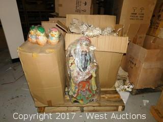 (4) Boxes of Porcelain Figurines