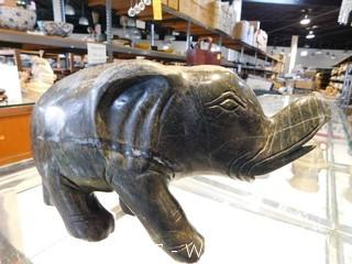 "Solid Jade Elephant 13"""