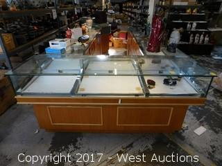 "Store Counter with Glass Display Case  76""x22"""
