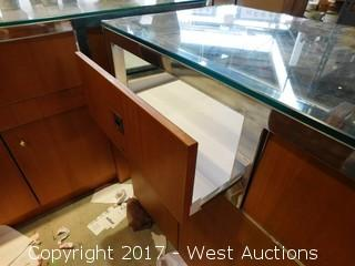 """Store Counter with Glass Display Case  9'x22"""""""