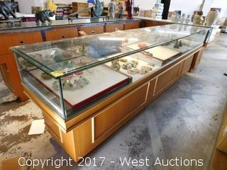 Store Counter with Glass Display Case  9'x22""