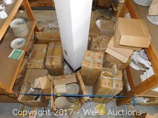 (11+) Boxes of Porcelain Dinnerware/Vases