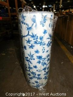 Tall Chinese Vase Blue and White Color