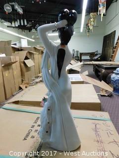 "(9) Oriental 17"" Porcelain Geisha Figurines"
