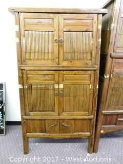 "Hutch with Bamboo Decor Doors - 68""x35"""