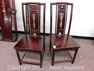 (2) Chinese Style Chairs