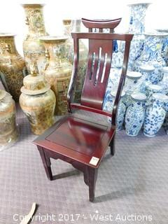 (1) Chinese Style Wood Chair