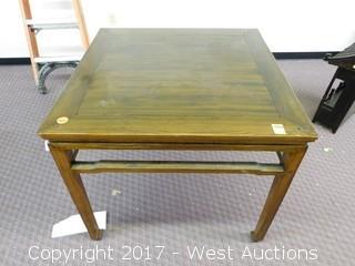 "Wood Table - 34""x38"""