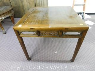 "33""x38"" Wood Table"