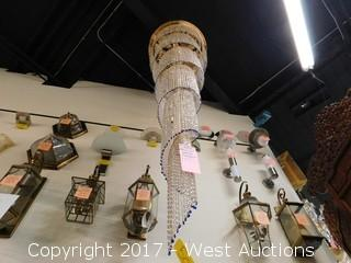 9ft Tall Glass Beaded Chandelier