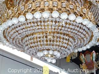 Crystal Chandelier Approx. 4' Diameter