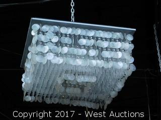Crystal and Mother of Pearl Chandelier