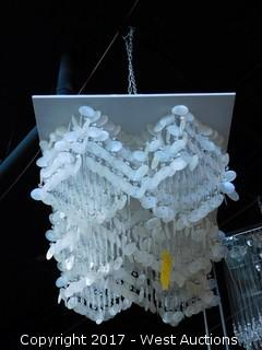 Glass and Mother of Pearl Chandelier