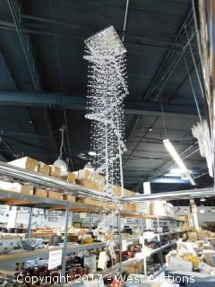 Crystal Chandelier Approx. 9' Tall