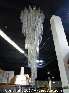 Crystal Chandelier Approx. 7' Tall