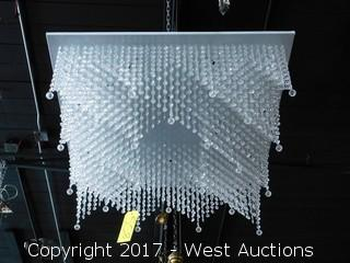 Square Beaded Glass Chandelier