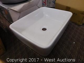 """(1) 14"""" Porcelain Sink Basin"""