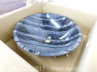 "(1) 16"" Granite Sink Basin"