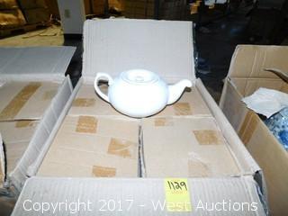 """(36) 9"""" Porcelain Tea Pots in Boxes"""