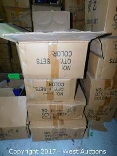 (4) Boxes of Ceramic Bonsai Pot Sets