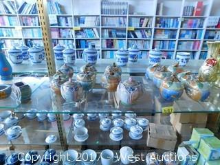 (60+) Tea Cups, Tea Pots  Vases, Jars and Other Ceramic Items