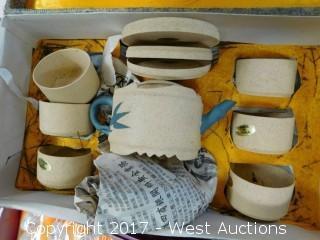 (5) Porcelain Tea Cup Gift Sets