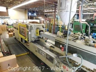 Toshiba ISE610 Ton 120oz Injection Molding Machine with Accessories