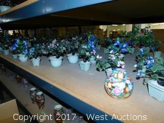 Bulk Lot - Approximately (35) Glass Flowering Bonsai Trees
