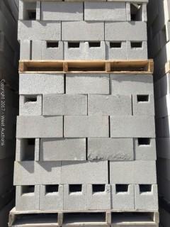 1 Pallet Masonry Block - 8x8x16 OEBB Precision Grey Lightweight
