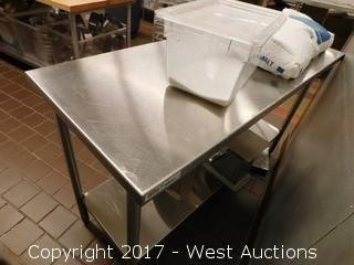 5' Stainless Steel Prep Table and 6 Scales