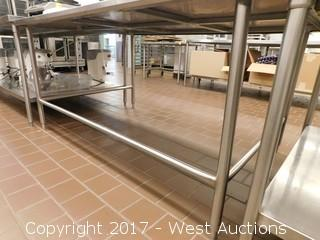 (1) Stainless Steel Table 6'x4'