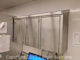 4' Stainless Steel (3) Cabinet Wall Unit