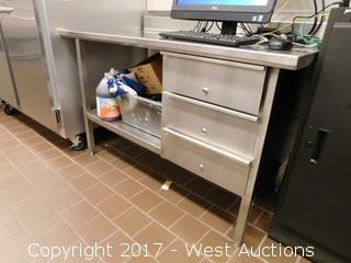 4' Stainless Steel Desk