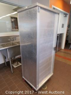Win-Holt Stainless Steel Portable Tray Locker 6'x2'