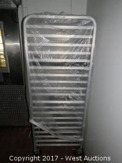 (1) 6' Win-Holt Stainless Steel Portable Tray Rack
