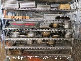 Metro Rolling Rack Full of Cooking Supplies