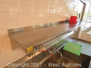 6' Stainless Steel Shelf