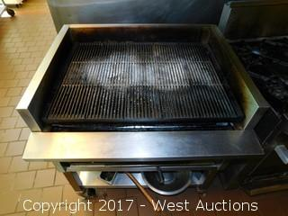 "Stainless Grill on Stand with Casters 32"" x 36"""