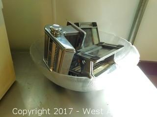 Stainless Table with Pasta Makers and Containers