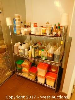 Metro Wire Shelf with Cooking Supplies